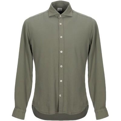 CALIBAN 820 シャツ ミリタリーグリーン 42 コットン 100% シャツ