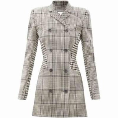 マリーン セル Marine Serre レディース パーティードレス ブレザードレス ワンピース・ドレス Prince of Wales-check upcycled-wool bla