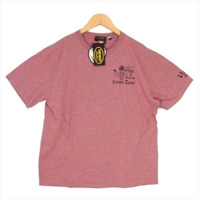 バンソン VANSON LTV-916 LOONEY TUNES ルーニー・テューンズ 半袖 プリント Tシャツ ピンク系 XL 【新古品】【未使用】【中古】