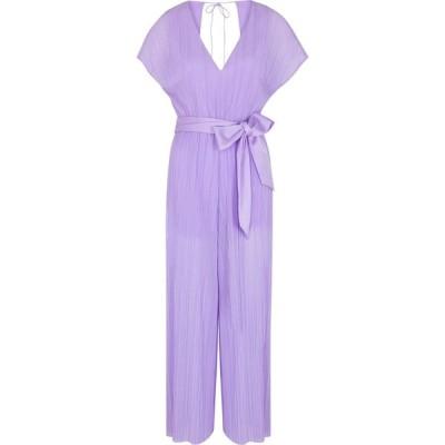アリス アンド オリビア Alice + Olivia レディース オールインワン ジャンプスーツ ワンピース・ドレス Mitsue Lilac Belted Plisse Jumpsuit Purple