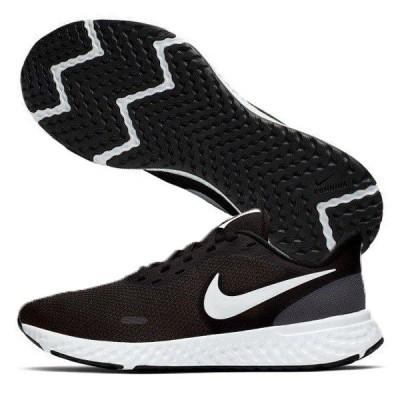 ナイキ NIKE ウィメンズ レボリューション 5 BQ3207-002 レディースランニングシューズ ジョギング 練習 競技 陸上 部活 運動靴 スニーカー ブラック