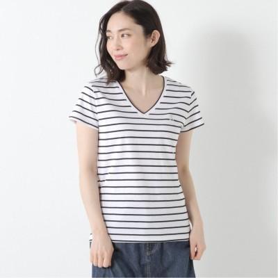 ライオン刺繍VネックTシャツ【M―LL】(ジョルダーノ/GIORDANO)