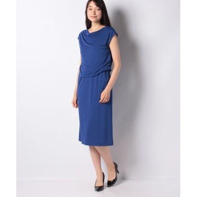 【ラピーヌ ブランシュ】 レーヨンジャージー ブラウジングドレス レディース ブルー 38 LAPINE BLANCHE