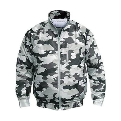 NSP 空調服 服単体 チタンコーティング 立ち襟 迷彩グレー L 8208862