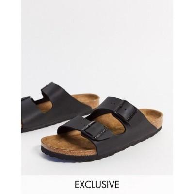 ビルケンシュトック Birkenstock レディース サンダル・ミュール フラット シューズ・靴 Exclusive Arizona vegan flat sandals in black