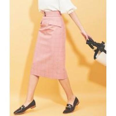 31 Sons de modeウィンドウペンチェックタイトスカート