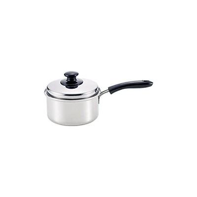 和平フレイズ 片手鍋 煮物 茹で物 スタイラールーチェ 16cm IH対応 ステンレス三層鋼 蓋付 日本製 SR-8911