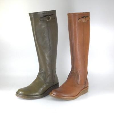 saya ブーツ ロング サヤ ラボキゴシ 靴 5589 BR KHA ジョッキーブーツ ロングブーツ クレープソール ファスナー 履きやすいブーツ 大きいサイズ 小さいサイズ