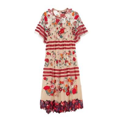 BIYAN 7分丈ワンピース・ドレス ローズピンク XS ナイロン 100% 7分丈ワンピース・ドレス
