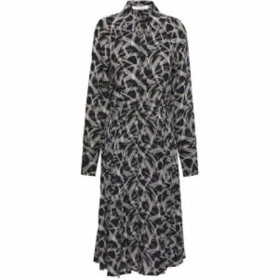 エキプモン EQUIPMENT レディース ワンピース シャツワンピース ワンピース・ドレス julee pleated printed silk crepe de chine shirt d