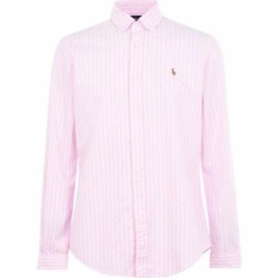 ラルフ ローレン Polo Ralph Lauren メンズ シャツ トップス Oxford Stripe Slim Shirt Pink/White