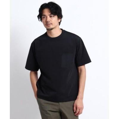 (TAKEO KIKUCHI/タケオキクチ)【Sサイズ~】Mizuno コラボ ハイゲージ ポケット Tシャツ/メンズ ブラック(019)