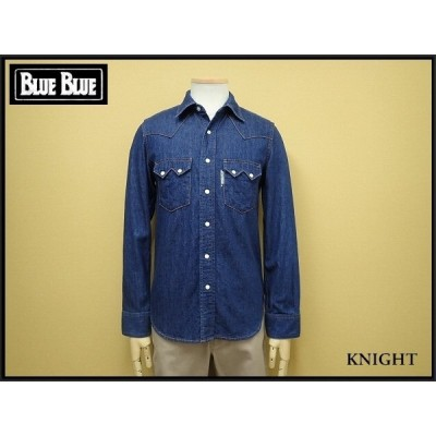 BLUE BLUE デニムシャツ・1△ブルーブルー/HRM/ウエスタンシャツ/21*1*2-4