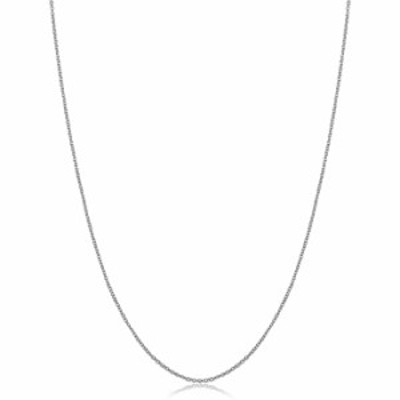 14k White Gold Filled Cable Pendant Chain Necklace (1 mm, 16 inch)