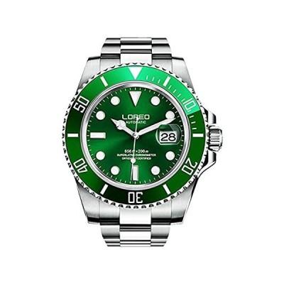 メンズ クラシック ラグジュアリー 316L ステンレススチール サファイア ガラス 自動巻き 腕時計 200m 防水 機械式腕時計 A- Silve好評販売中