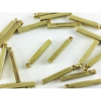チャーム シンプル スティック 角 20個 ゴールド カン付 バー ネックレス パーツ ピアス イヤリング  (AP0290)