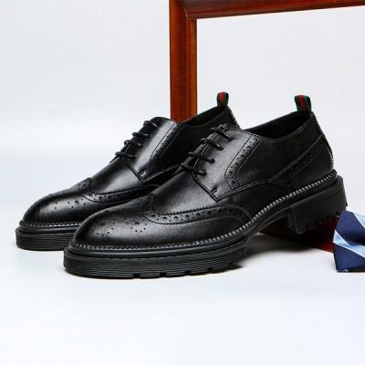 メンズ ビジネス シューズ仕事用 春秋 おしゃれ メンズ  紳士用 革靴黒靴 メンズ