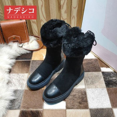 ムートンブーツ  ブーツ レディース 冬靴  防滑   おしゃれ   シンプル  裏起毛   保温   編み上げブーツ  ふわふわ オシャレ 軽量 美脚   暖かい