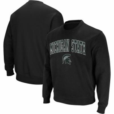 """スウェット """"Michigan State Spartans"""" Colosseum Arch - Logo Crew Neck Sweatshirt - Black"""