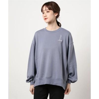 tシャツ Tシャツ 女の子イラストミニ裏毛プルオーバー