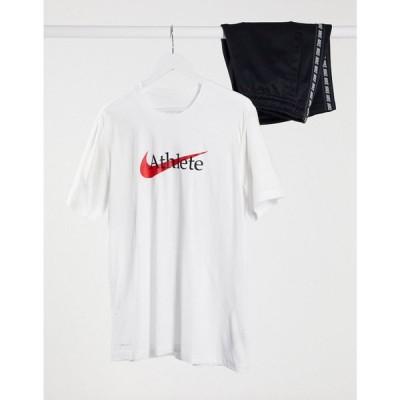 ナイキ Nike Training メンズ Tシャツ トップス Athlete Logo T-Shirt In White ホワイト
