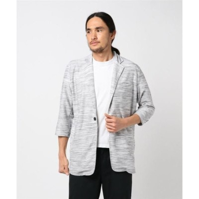 ジャケット テーラードジャケット セマンティックデザイン/semantic design コールドタッチスラブリップル7分袖カットジャケット