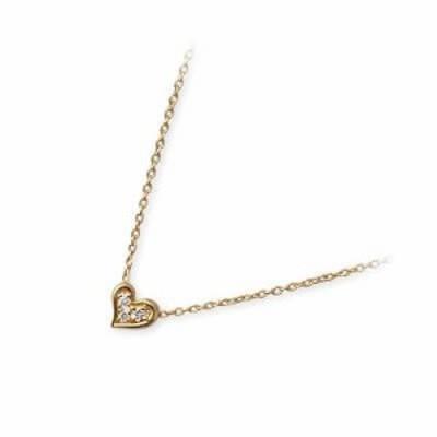 ネックレス レディース WISP イエローゴールド ハート ダイヤモンド 4月の誕生石 誕生日プレゼント ギフト