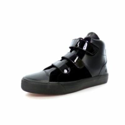 【中古】未使用品 ムーンエイジデビルメント Moonage Devilment トリプルレザーストラップスニーカー 靴 39 SIL/DEVIL