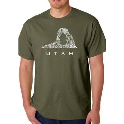 エルエーポップアート メンズ Tシャツ トップス Word Art Graphic T-Shirt - Utah
