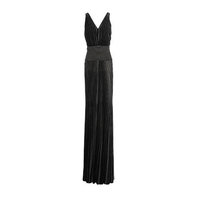 ELISABETTA FRANCHI ロングワンピース&ドレス ブラック 44 レーヨン 85% / ポリエステル 9% / ナイロン 5% / ポ