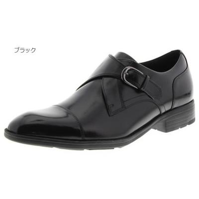 2E幅 テクシーリュクス メンズ ビジネスシューズ 革靴 消臭 抗菌 モンクストラップ TU-7004