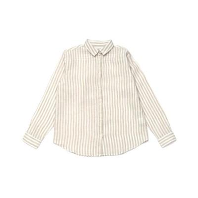 (TOKYO SHIRTS/トーキョーシャツ)ウィメンズ カジュアルシャツ 長袖 レギュラー衿 麻100%/レディース ベージュ・ブラウン