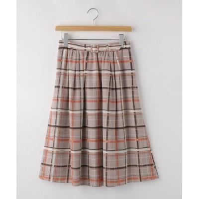 OFF PRICE STORE(Women)(オフプライスストア(ウィメン)) NATURAL BEAUTYベルト付チェックフレアースカート