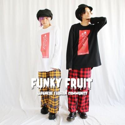 FUNKYFRUIT スクラッチ&ストロベリーロングスリーブTシャツ/1点のみメール便可能/5010pm-2/113
