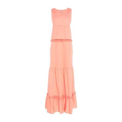 SCEE by TWINSET ロングワンピース&ドレス サーモンピンク M コットン 97% / ポリウレタン 3% ロングワンピース&ドレス