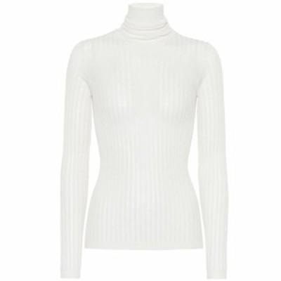 ボッテガ ヴェネタ Bottega Veneta レディース ニット・セーター トップス Cotton-blend turtleneck sweater Chalk