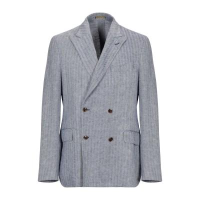 ラルディーニ LARDINI テーラードジャケット ブルー 50 麻 100% テーラードジャケット