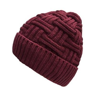 Loritta メンズ 冬用 暖かいニット帽 ウール バギー ソフト ビーニー ハット スカル キャップ US サイズ: One