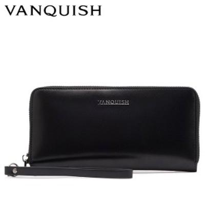 ヴァンキッシュ VANQUISH 財布 長財布 メンズ ラウンドファスナー 本革 LONG WALLET ブラック 黒 VQM-41250