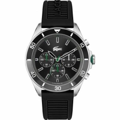 ラコステ LACOSTE メンズ 腕時計 Tiebreaker Silicone Strap Watch. 44mm Black