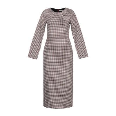 LA SARTORIA 7分丈ワンピース・ドレス ベージュ 44 ウール 7分丈ワンピース・ドレス