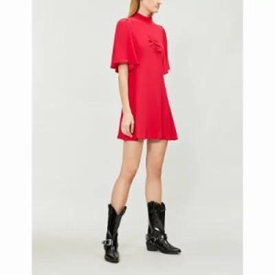 フリーピープル ワンピース be my baby crepe mini dress Red