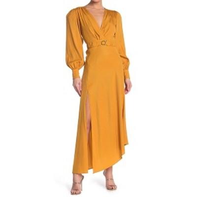 ロニーコボ レディース ワンピース トップス Estelle Bias Cut Silk Blend Midi Dress MUSTARD
