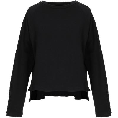 SÀPOPA スウェットシャツ ブラック XS コットン 100% スウェットシャツ