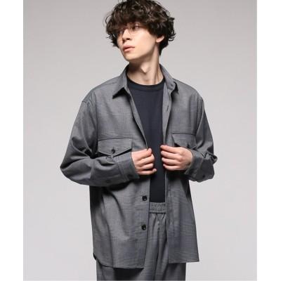 【エディフィス】 CARREMAN / キャリーマンCPOシャツ メンズ ネイビーベース M EDIFICE