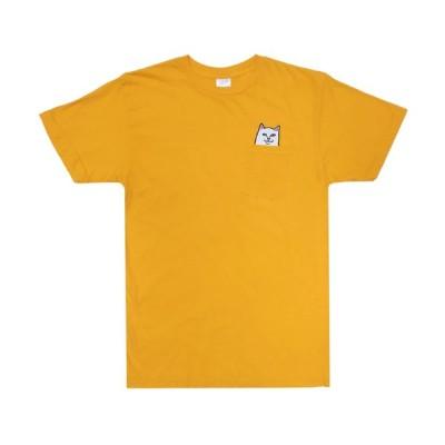 リップンディップ 半袖 ポケット Tシャツ ゴールド 猫 ポケT メンズ レディース スケートボード RIPNDIP LORD NERMAL POCKET S/S T GOLD