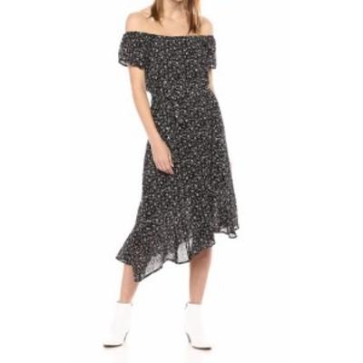 lucky ラッキー ファッション ドレス Lucky Brand Womens Dress Black Size XL Floral Asymmetric Sheath