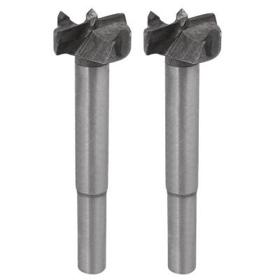 uxcell ヒンジボーリングビット 炭化物材質 ボーリング直径23mm シャンク直径8mm 全長75mm 2個入り
