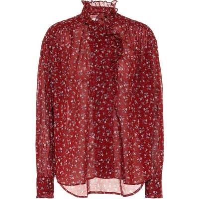 イザベル マラン Isabel Marant, Etoile レディース ブラウス・シャツ トップス pamias floral cotton voile blouse Grenat