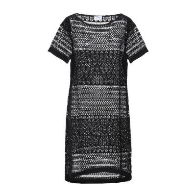 LFDL LA FABBRICA DEL LINO ミニワンピース&ドレス ブラック XS コットン 100% ミニワンピース&ドレス
